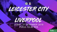 Premier League - Leicester City Vs Liverpool (Bola.com/Adreanus Titus)