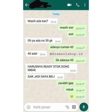 chat pembeli ngaco