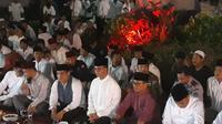 Anies Pukul Beduk dan Tradisi Bawa Rantang di Malam Takbiran Jaksel. (Liputan6.com/Delvira Hutabarat)