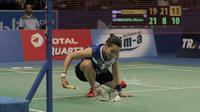 Tunggal Putri China Taipei, TAI Tzu Ying, melawan Tunggal putri Thailand, Nitchaon Jindapol pada laga Indonesia Open 2017 di JCC, Kamis, (15/6/2017). (Bola.com/M Iqbal Ichsan)
