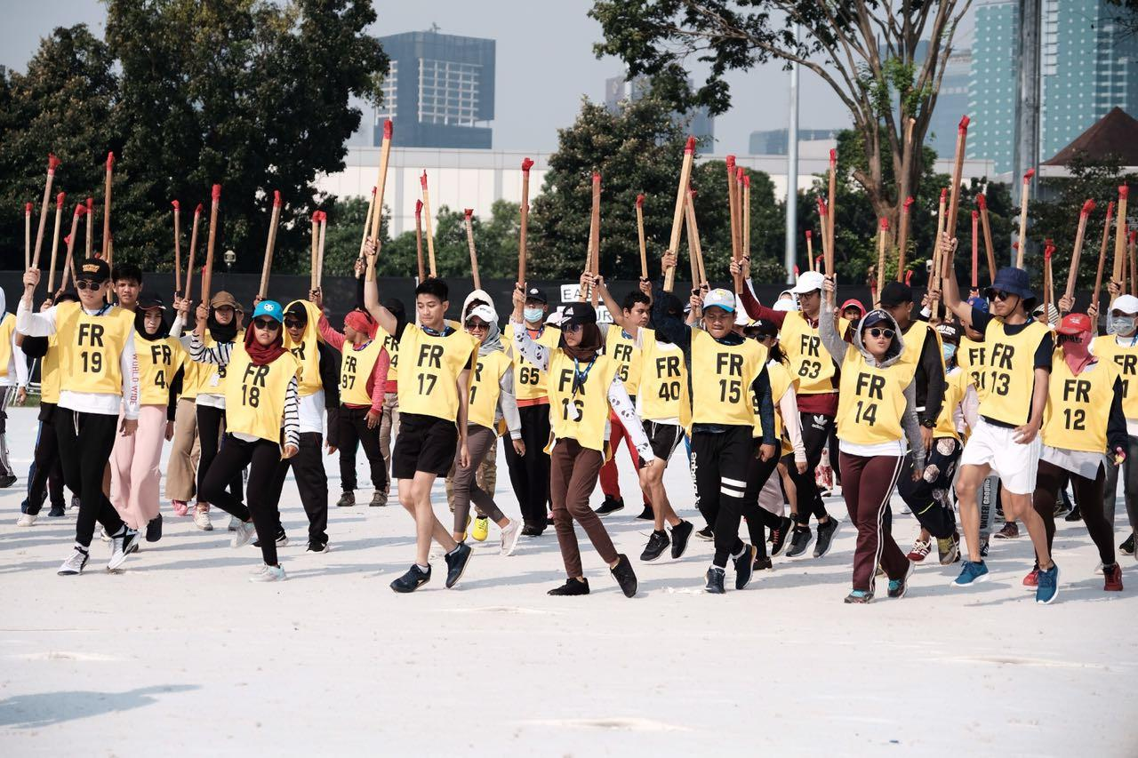 Penari tengah berlatih untuk membuat pertunjukan kolosal yang akan ditampilkan dalam pembukaan Asian Games 2018 pada 18 Agustus mendatang. (Istimewa)