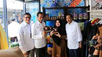 Presiden RI Joko Widodo meresmikan Halal Park sebagai Moslem District Destination yang berlokasi di Jalan Pintu Satu Senayan, Jakarta, Selasa (16/4).