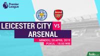 Premier League - Leicester City Vs Arsenal (Bola.com/Adreanus Titus)