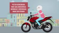 Posisi berkendara dengan sepeda motor yang tepat jamin kenyamanan dan keamanan Anda di jalan.