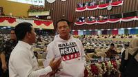 Pimpinan MPR menghadiri geladi pelantikan presiden dan wakil presiden periode 2019-2024, Sabtu (19/10/2019). (Merdeka.com/ Yunita Amalia)