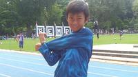 Hanhan, anak 12 tahun yang siap triathlon mendukung anak-anak seusianya yang tengah berjuang melawan penyakit kanker dan penderita gizi kurang. (dok. Instagram @hanhan_taekwondokids/https://www.instagram.com/p/BqACKw0gXrV/Putu Elmira)