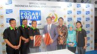 KONI meneken kerjasama dengan minuman berisotonik Pocari Sweat untuk sponsori Asian Games 2014 (Defri Saefullah/Liputan6.com)