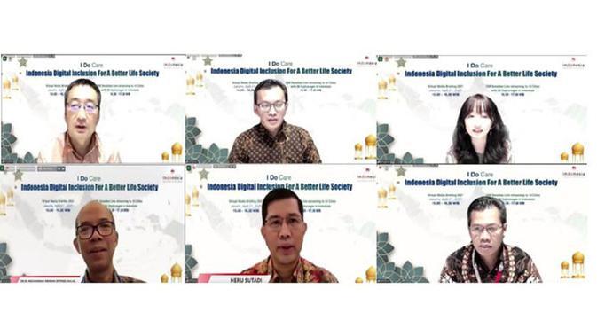 Tangkapan layar Media Online Briefing yang diselenggarakan Huawei dengan tema I Do Care Indonesia Digital Inclusion for a Better Life Society. (Doc: Huawei)