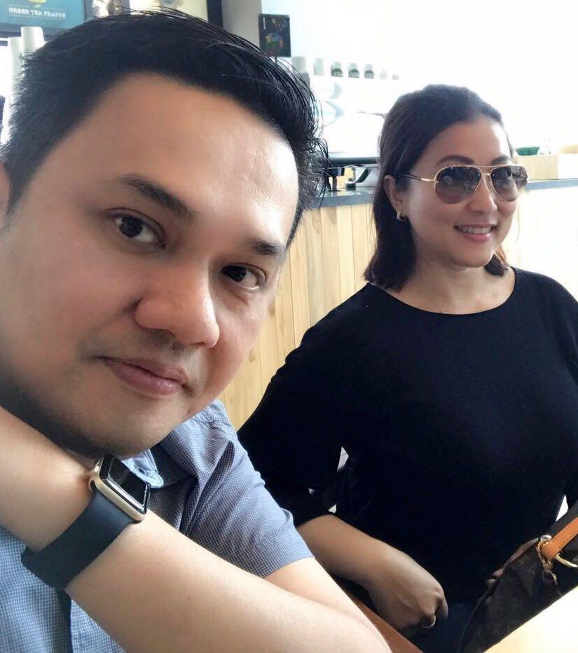 Farhat Abbas dan kekasih baru, Husna. (Farhat Abbas)