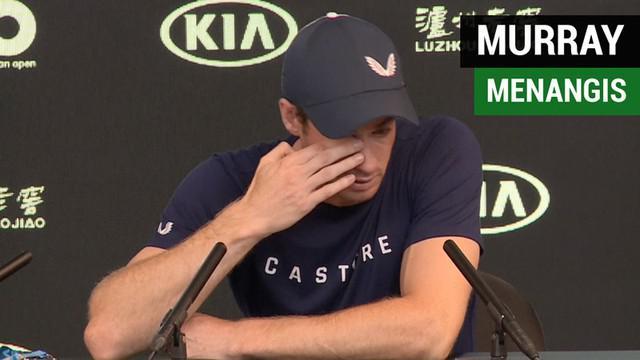Berita video momen petenis peraih 3 gelar grand slam, Andy Murray, menangis di hadapan awak media saat umumkan dirinya berpeluang untuk gantung raket.