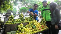 Pedagang jambu biji di Bogor (Liputan6.com/ Achmad Sudarno)