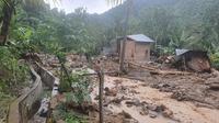 Longsor dan Banjir Bandang di Desa Kalimbua Polman (Foto: Liputan6.com/Istimewa)