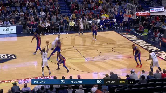 Berita video game recap NBA 2017-2018 antara New Orleans Pelicans melawan Detroit Pistons dengan skor 112-109.