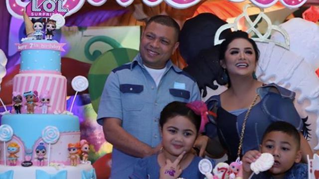 Megahnya Pesta Ulang Tahun Ke 7 Putri Krisdayanti Dan Raul