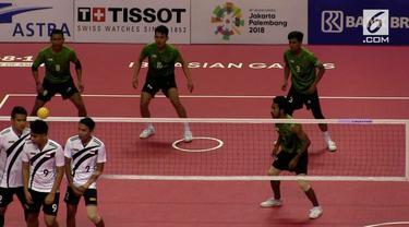 Tim Sepak Takraw beregu nomor Quadrant Indonesia bertemua Jepang  di Final