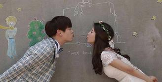 Eric Nam dan Solar Mamamoo merupakan pasangan di serial drama 'We Got Married'. Memiliki chemistry yang kuat, keduanya akan berpisah karena harus keluar dari serial WGM tersebut. (INstagram/realericnam)