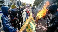 Unjuk rasa digelar di kota Melbourne Victoria, Australia. (Sumber: The Age)