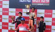 Qarrar Firhand Ali juara di kelas kadet kejuaraan gokart Asia IAME Asia Series (istimewa)