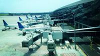 Sejumlah pesawat terparkir di Terminal 3 Bandara Soekarno Hatta. Dok AP II