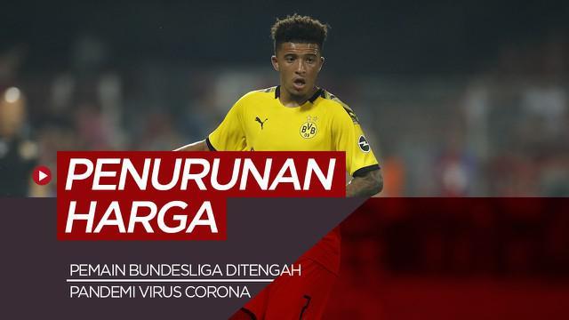Berita motion grafis update harga pemain termahal Bundesliga di tengah pandemi Virus Corona.