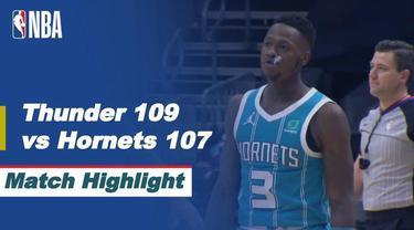 Berita video, Oklahoma City Thunder meraih kemenangan saat melawan Charlotte Hornets
