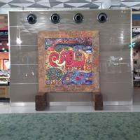 Lukisan seniman dunia di Bandara Soetta. (Foto: Dok. Bandara Soetta)