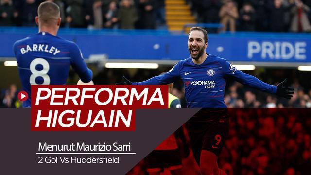 Berita video respon dari manajer Chelsea, Maurizio Sarri soal performa Gonzalo Higuain menghadapi Huddersfield.