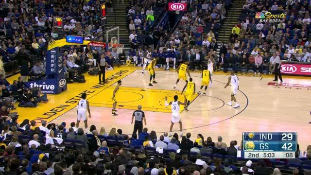 Berita video game recap NBA 2017-2018 antara Indiana Pacers melawan Golden State Warriors dengan skor 92-81.