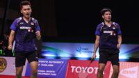 Leo Rolly Carnando/Daniel Marthin tampil di Thailand Open 2021. (BWF Limited Acces)