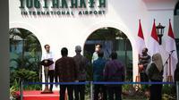 Presiden Jokowi meresmikan Tower baru AirNav Indonesia yang berada di Yogykarta International Airport (YIA)