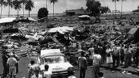Dampak tsunami Hawaii 23 Mei 1960. (AP)