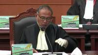 Kuasa hukum paslon Pilkada Kalteng nomor urut 01 Ben Ibrahim-Ujang Iskandar, Bambang Widjayanto saat sidang pendahuluan sengketa pilkada di Mahkamah Konstitusi, Jakarta, Rabu (27/1/2021). (Ist)