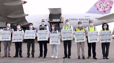 Taiwan menyampaikan apresiasi atas kiriman 2,5 juta vaksin COVID-19 merk Moderna dari AS.