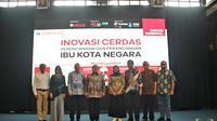 Menteri PPN/Kepala Bappenas, Bambang Brodjonegoro, dan Ketua Pusat Inovasi Kota dan Komunitas Cerdas ITB, Prof Suhono Harso Supangkat, hadiri Diskusi Nasional Inovasi Cerdas Perancangan dan Perencanaan Ibu Kota Negara belum lama ini. (Doc: Istimewa)