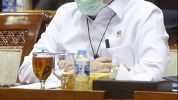 Jaksa Agung Burhanuddin saat Rapat Dengar Pendapat (RDP) bersama Komisi III DPR RI ,di Jakarta, Selasa (26/1/2021). Rapat tersebut beragendakan evaluasi kinerja Kejaksaan Agung Tahun 2020 dan rencana kerja 2021. (Liputan6.com/Angga Yuniar)