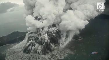 Video dramatis ketika terjadinya erupsi Gunung Anak Krakatau.