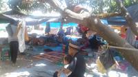 Pengungsi gempa Lombok (Liputan6.com/Sunariyah)