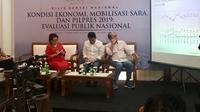 Saiful Mujani Research and Consulting (SMRC) menunjukkan tentang elektabilitas calon presiden dan wakil presiden. Liputan6.com/Ayu Lestari