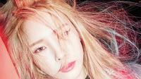 Tidak hanya bersuara merdu, Heize juga mengaplikasikan makeup vibrant yang cute. (Sumber foto: Pinterest)