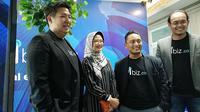 CEO Mbiz Rizal Paramarta, pakar e-procurement Ika Mardiah, CTO Mbiz Ryn Hermawan dan CCO Mbiz Andik Duana Putra (Foto: Andina Librianty/Liputan6.com)