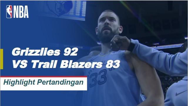 Mike Conley memposting 23 poin bersama dengan enam rebound dan enam assist untuk memimpin Grizzlies melewati Trail Blazers, 92-83. CJ McCollum mencetak 40 poin dalam kekalahan.