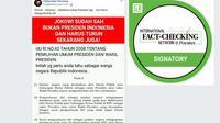 Cek Fakta - Screenshot akun Oddyoesto Permana di Facebook terkait cuti Jokowi. (Liputan6.com)