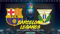 La Liga - Barcelona Vs Leganes (Bola.com/Adreanus Titus)