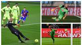 Satu gol Marko Dmitrovic ke gawang Atletico Madrid mengukir catatan manis di Liga Spanyol. Dmitrovic menjadi kiper pertama yang mencetak gol di LaLiga dalam kurun waktu 10 tahun terakhir. (Foto: AP & AFP)