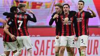 Pelatih AC Milan, Stefano Pioli, menegaskan timnya masih terlibat dalam perburuan gelar Scudetto Serie A 2020-2021 meskipun menelan kekalahan 1-3 dari Juventus. (AFP/Miguel Medina)