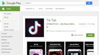 Aplikasi Tik Tok. (Doc: Google Play Store)