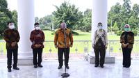 Tim Vaksin Merah Putih memberikan keterangan pers usai bertemu Presiden Joko Widodo di Istana Bogor pada Rabu (9/9/2020) (Foto: Biro Pers, Media, dan Informasi Sekretariat Presiden)