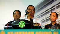 Jaksa Agung, Prasetyo saat jumpa pers terkait terkait pelaksanaan eksekusi hukuman mati terhadap enam terpidana dalam waktu dekat, Jakarta, (15/1/2015). (Liputan6.com/Faisal R Syam)