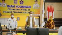 Kepala BNPB Letjen TNI Doni Monardo soroti ketidakpercayaan masyarakat terhadap keberadaan Covid-19. (Foto: Liputan6.com/Arfandi Ibrahim)