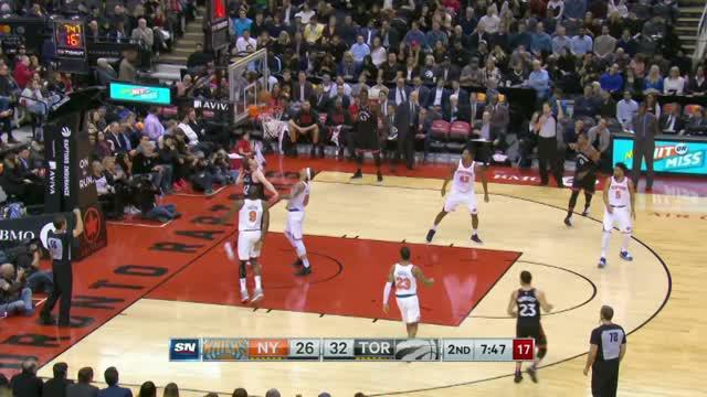 Berita video game recap NBA 2017-2018 antara Toronto Raptors melawan New York Knicks dengan skor 113-88.